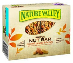 nature valley simple nut peanut bar