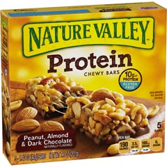 nature valley chewy protein peanut almond bar