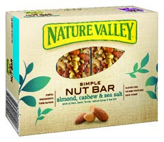 nature valley simple nut almond bar